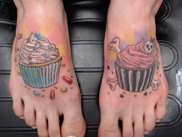Two tattoos on the feet