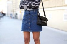 simple striped dress outfit for summer