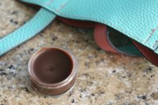 DIY chocolate lip balm with extracts and essential oils