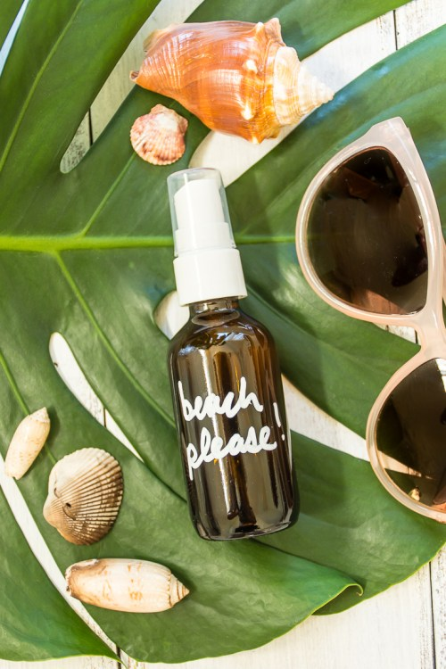 DIY coconut sea salt hair spray (via diyinpdx.com)