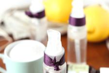 DIY beachy hair spray with lemon essential oil