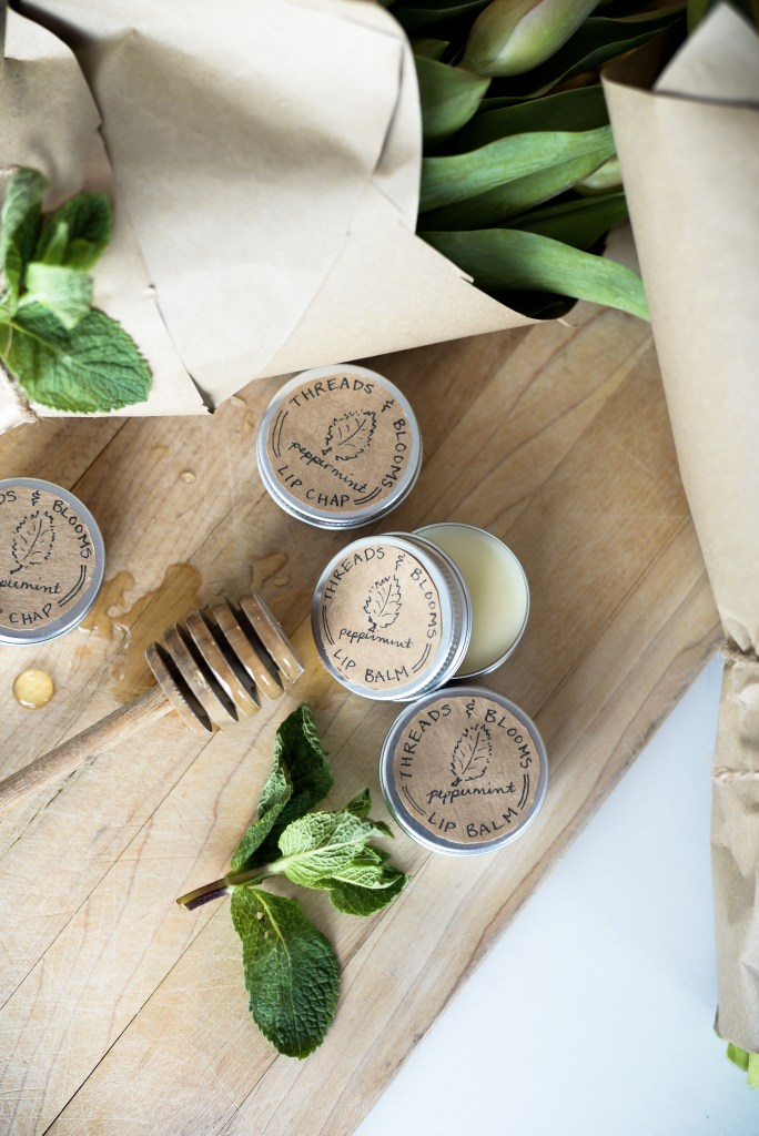 DIY mint and honey lip balm (via threadsandblooms.com)