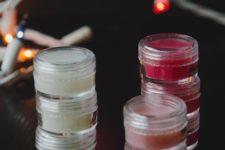 DIY tinted mint lip balm