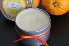 DIY orange lip and hand moisturizer