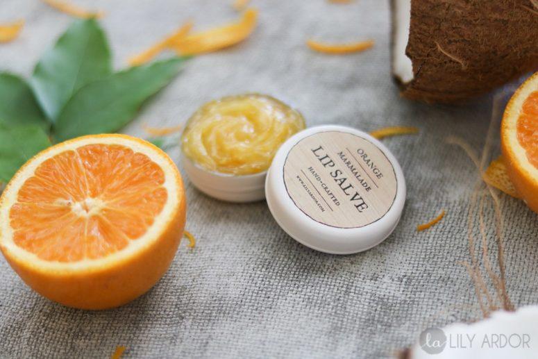 DIY orange marmalade lip balm (via www.lilyardor.com)