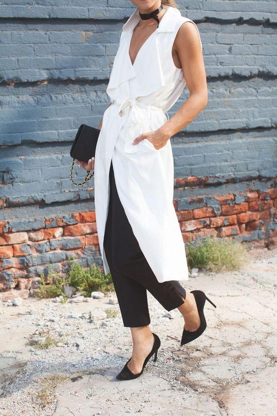 stylish b&w fall outfit