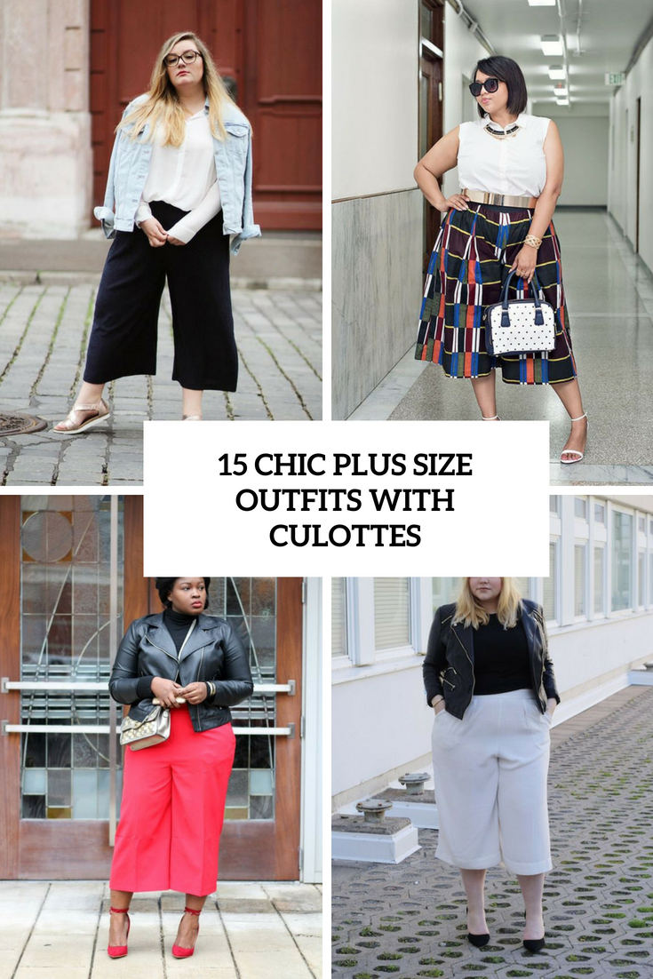 15 Chic Ways To Tie A Scarf: 15 Chic Plus Size Outfits With Culottes