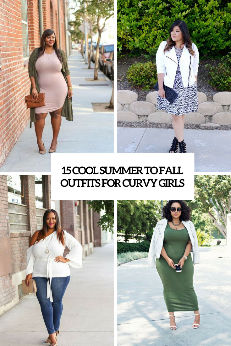 cool summer to fall outfits for curvy girls cover