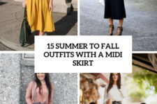 15 summer to fall outfits with a midi skirt cover