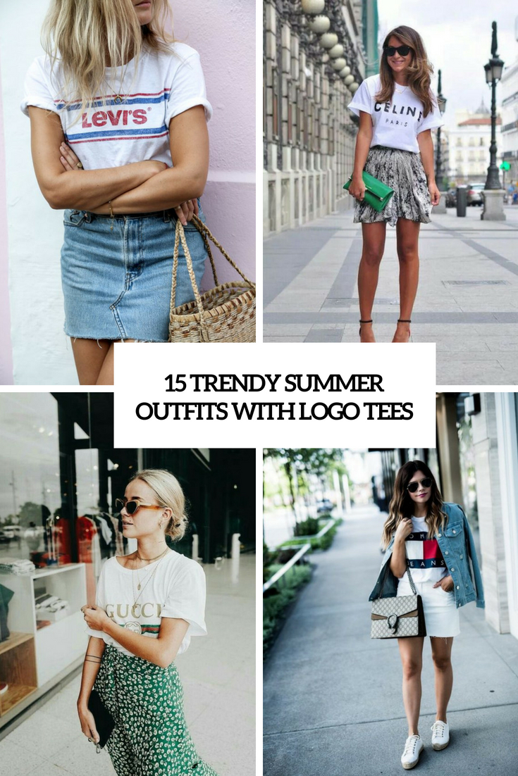 trendy summer outfits with logo tees cover