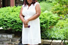 all-white summer curvy girl outfit