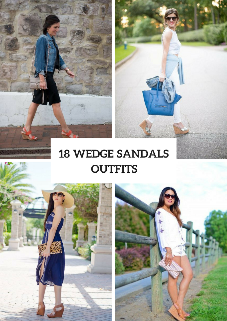 Awesome Outfits With Wedge Sandals