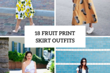 18 Outfits With Fruit Printed Skirts