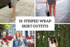 18 Striped Wrapped Skirt Outfits To Repeat