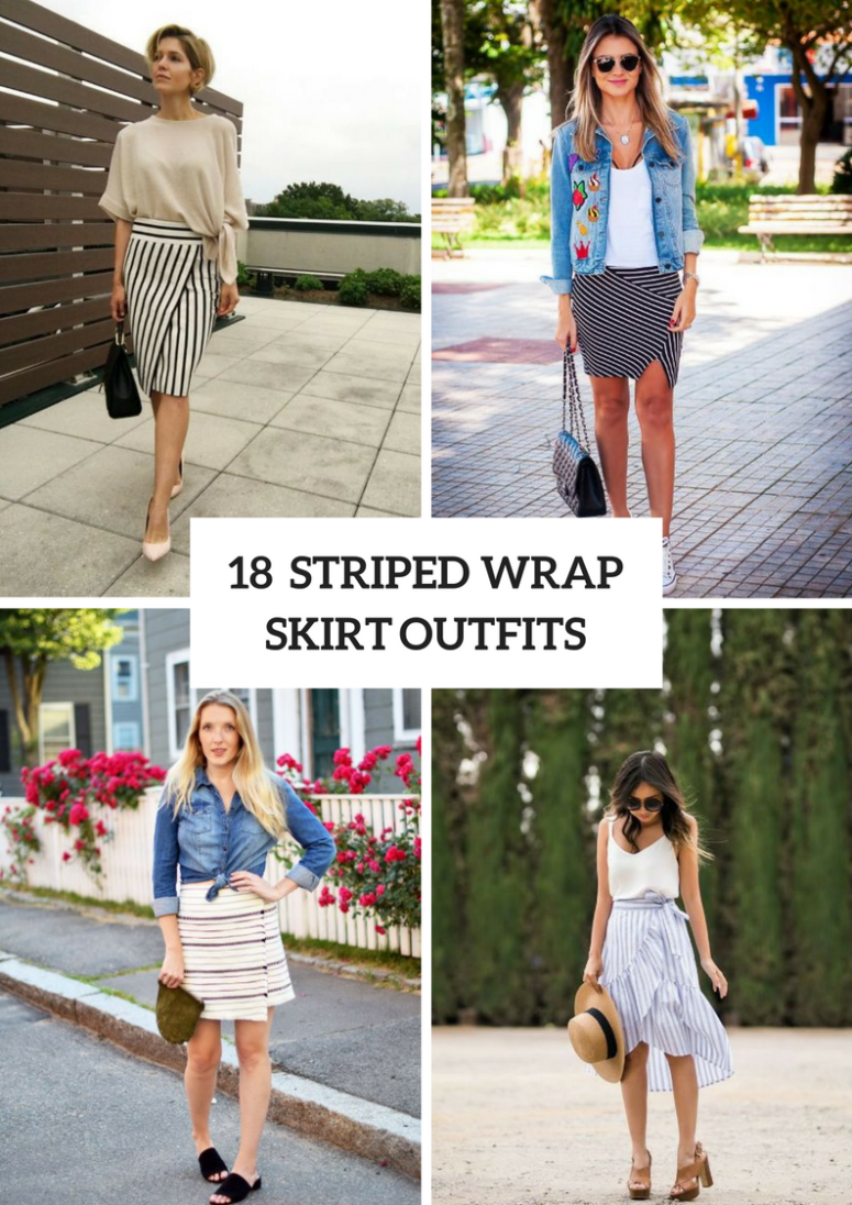 Striped Wrapped Skirt Outfits To Repeat
