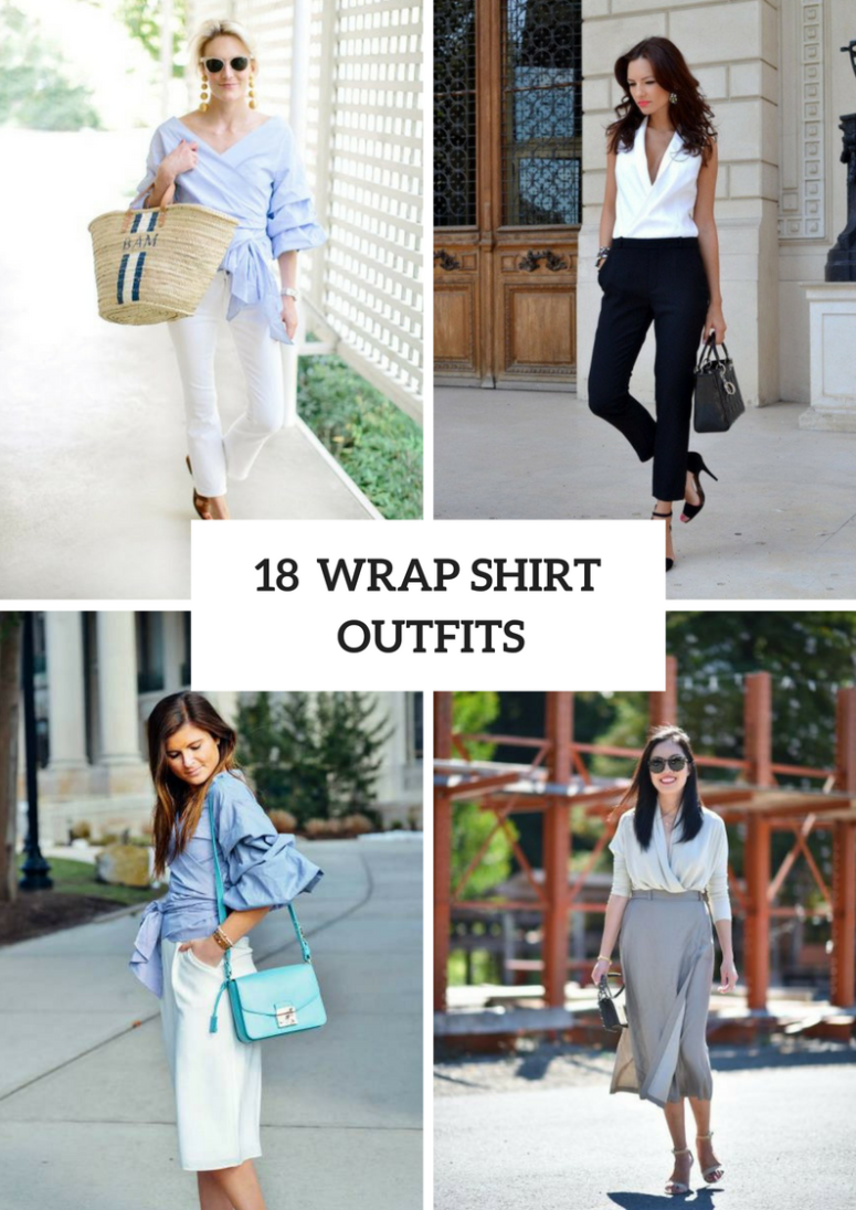 18 Summer Outfits With Wrapped Shirts