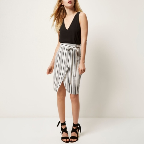 With black top and lace up shoes