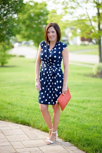 polka dress outfit for summer