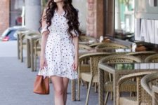 summer look with lace up espadrilles