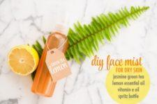 DIY moisturizing face mist for dry skin