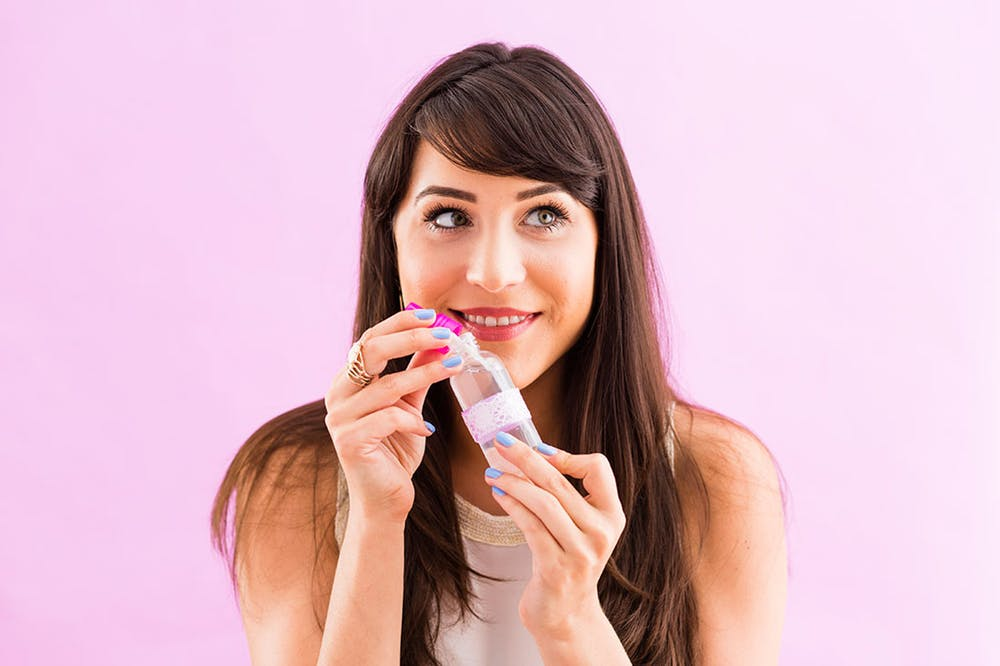 DIY face mist of ready beauty products
