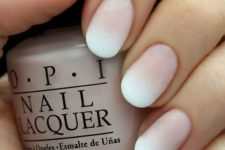 05 an ombre matte French manicure is a tender idea with a trendy twist