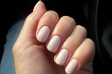 09 a soft blush manicure is a timeless idea suitable for any situation