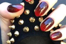 09 a stunning oxblood to red manicure will be a nice option not only for the falll but also for Halloween