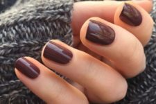 10 chocolate nails for a colored yet muted enough touch to the look