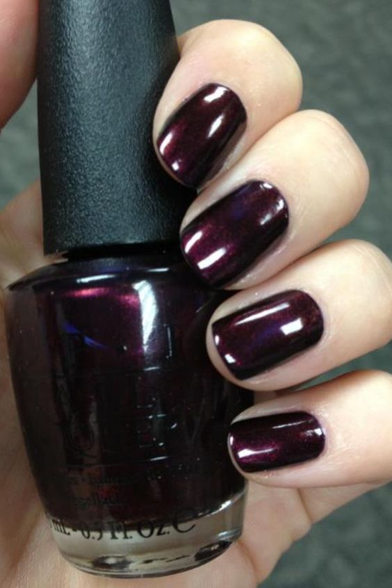 a rich aubergine shade is what you need for the fall or winter to add a touch of color