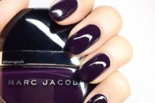 14 dark purple nails are a modern and bold colorful statement for your nails