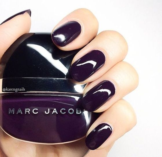 dark purple nails are a modern and bold colorful statement for your nails