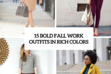 15 bold fall work outfits in rich colors cover