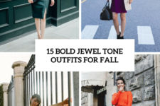 15 bold jewel tone outfits for fall cover