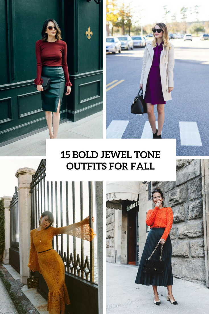 bold jewel tone outfits for fall cover
