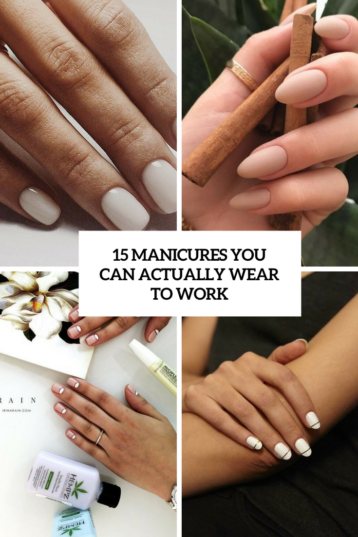 manicures that you can actually wear to work cover