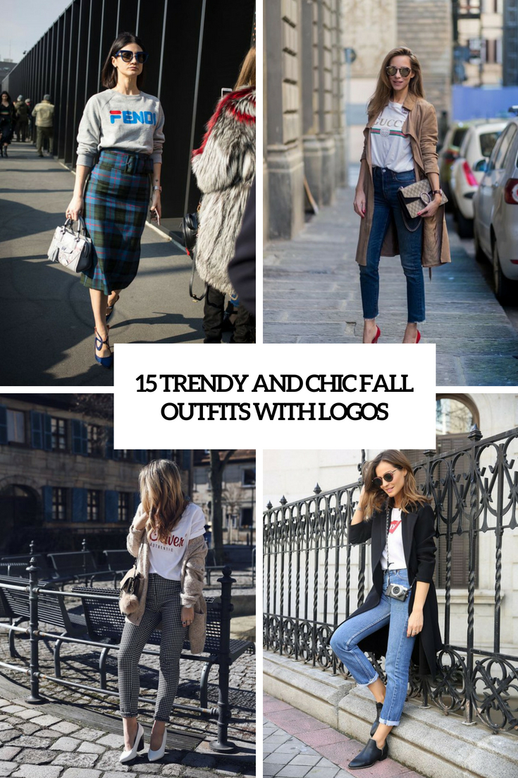 trendy and chic fall outfits with logos cover