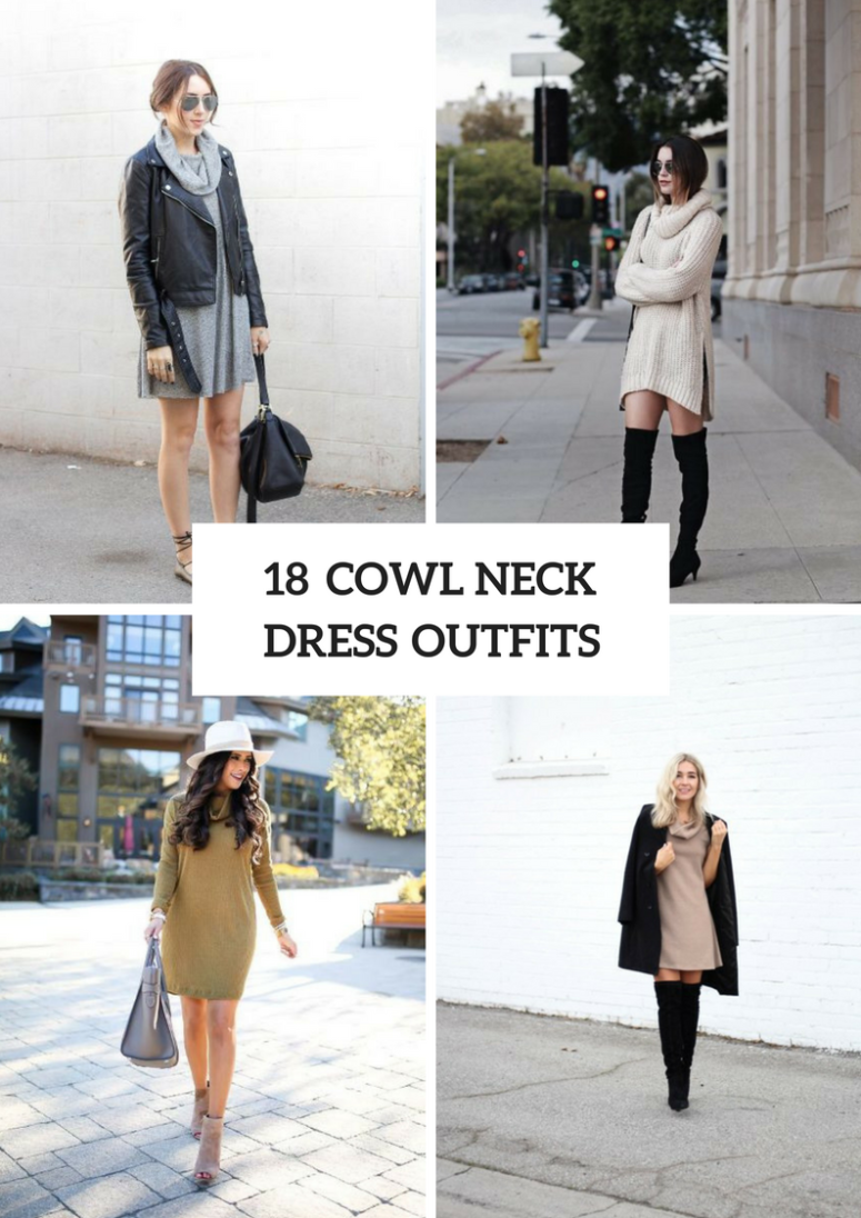 18 Awesome Cowl Neck Dress Outfits