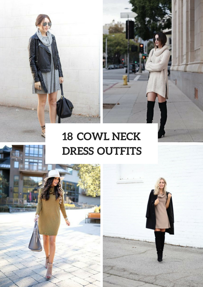 Awesome Cowl Neck Dress Outfits