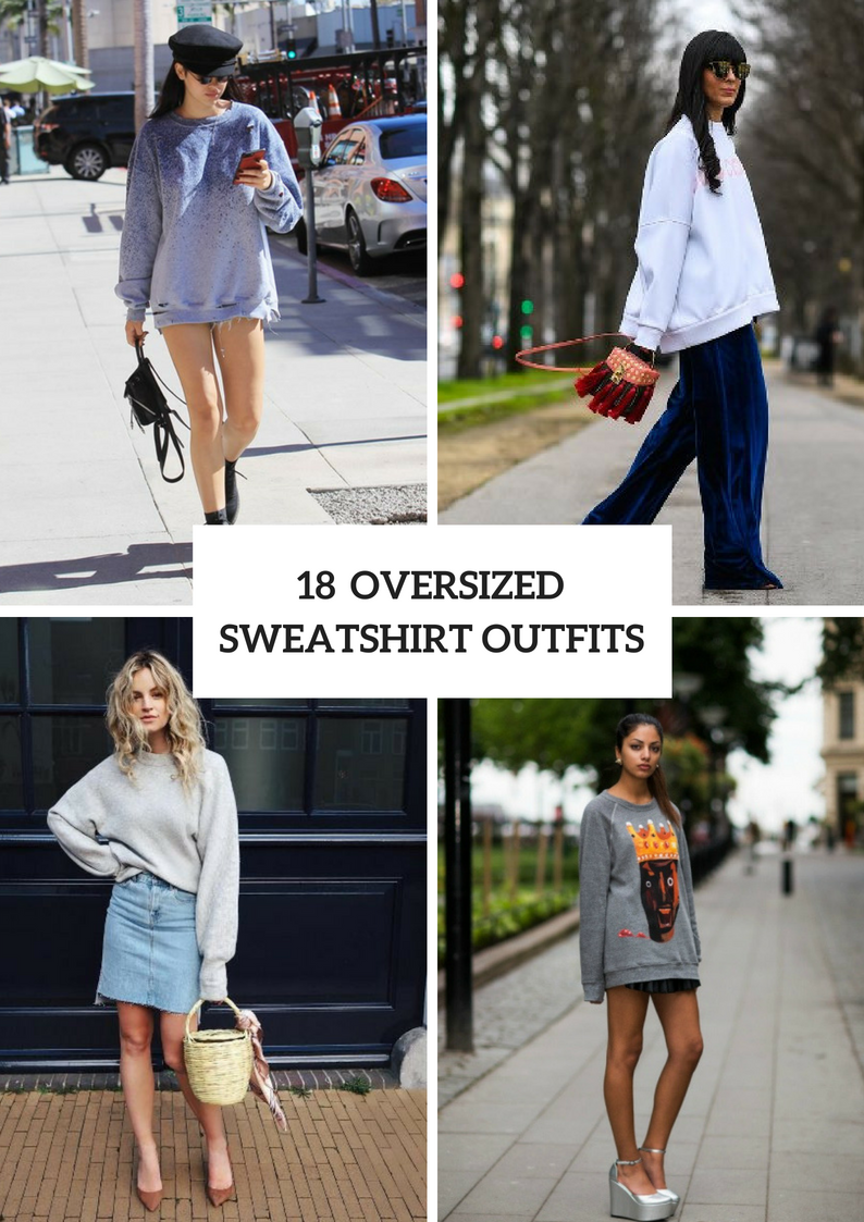 Fall Outfits With Oversized Sweatshirts