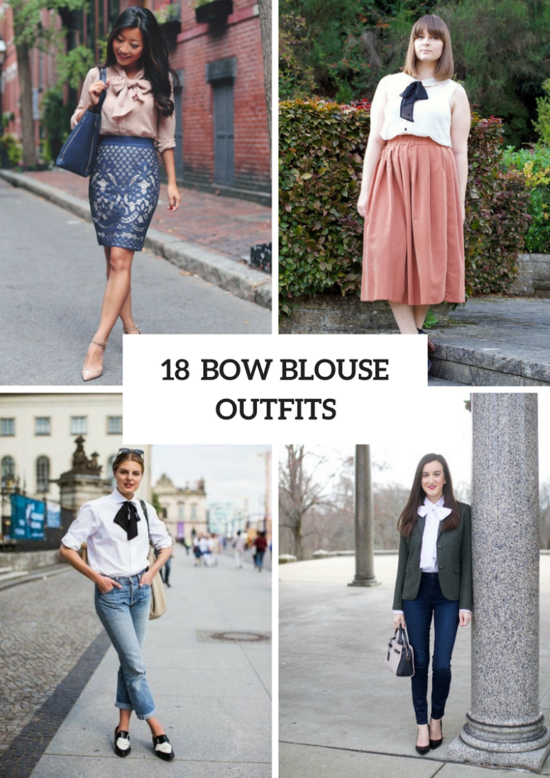 18 Outfits With Bow Blouses To Repeat