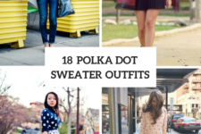 18 Outfits With Polka Dot Sweaters To Repeat