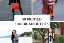 18 Outfits With Printed Cardigans For This Fall