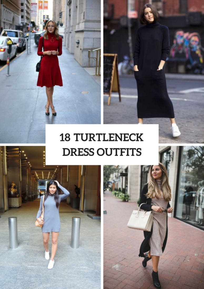 18 Outfits With Turtleneck Dresses