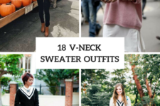 18 V-Neck Sweater Outfits For Ladies