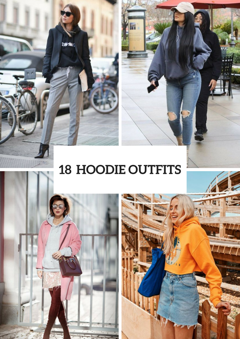 Women Outfit Ideas With Hoodies