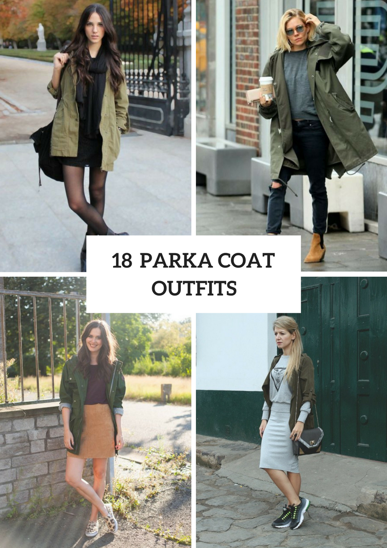Women Outfits With Parka Coats