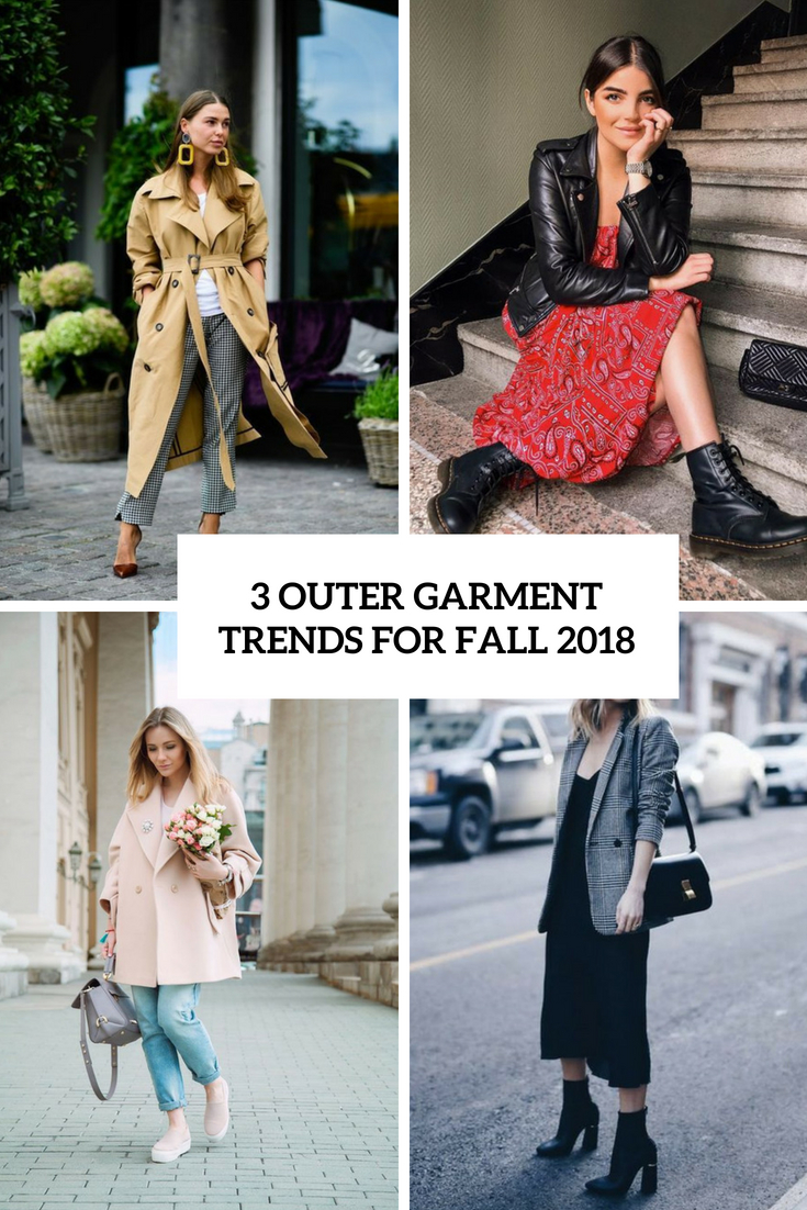 3 Outer Garment Trends For Fall 2018