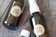 DIY hand sanitizer spray of 3 ingredients