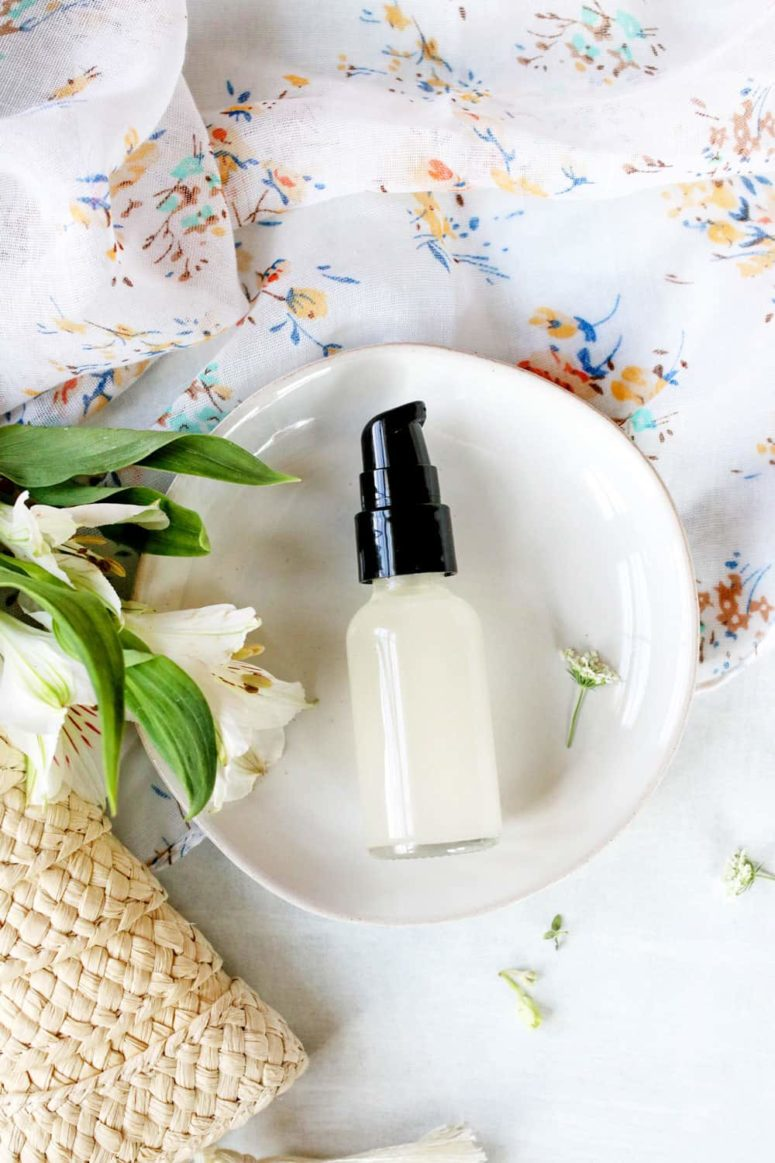 DIY hand sanitizer with essential oils (via helloglow.co)